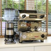 Coffee machine set Sanremo Capri 1 GRP plus coffee grinder Quamar M80