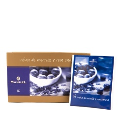 Herbata w saszetkach Manuel Caffé Jagody z dziką różą, 20 szt.
